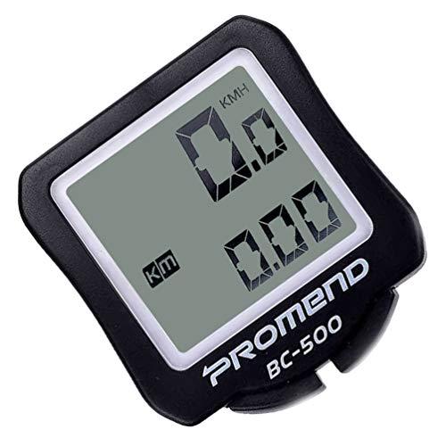 BESPORTBLE Fahrrad Tacho Kilometerzähler Wasserdicht Multifunktions-LCD-Display Fahrrad Fahrrad Computer mit Knopf Batterie für Fahrrad