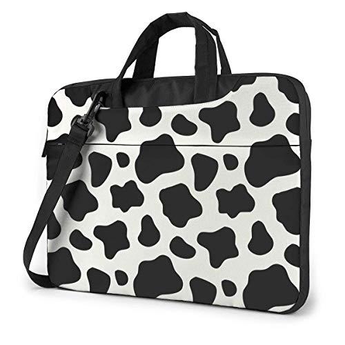 15.6 inch Laptop Shoulder Briefcase Messenger Cow Print Tablet Bussiness Carrying Handbag Case Sleeve
