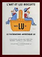 ポスター レイモン サビニャック Liart et les Biscuits 1980 額装品 ウッドベーシックフレーム(ブラウン)