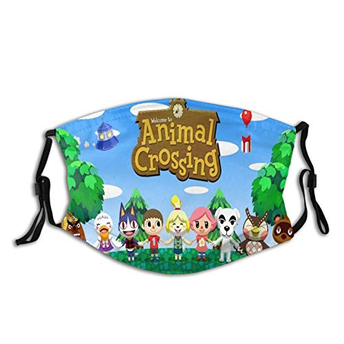 Okaneisan Animal-Crossing Face Mask Protection Reusable Ear Loop Neck Gaiter with Filters Men Women Kids