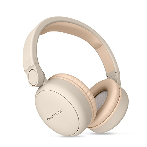 Energy Headphones 2 Auriculares inalámbricos con Bluetooth (Circumaural, Plegable, bateria Recargable,Audio-in) Beige