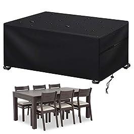 Housse Salon de Jardin Impermable, Housses de Protection table d'extérieur 420D tissu Oxford résistant anti-UV coupe…