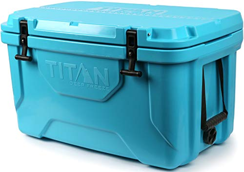 Arctic Zone Titan Deep Freeze 55Q Premium Ice Chest Roto Cooler with Microban Antimicrobial Protection, Blue