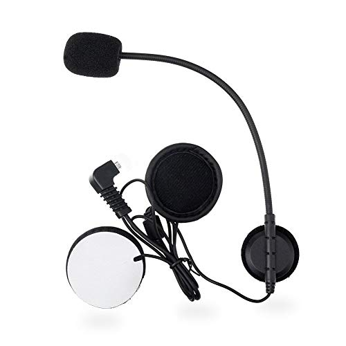 vFound Cuffie auricolari con cavo morbido per microfono tipo C per cuffie interfono per casco da moto BT-S2, BT-S3 (Microfono)