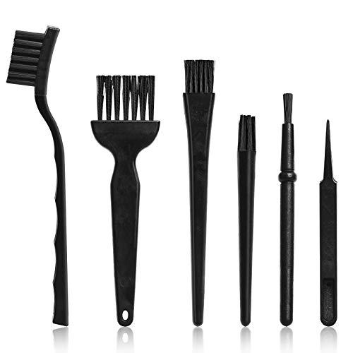 ITME Cepillos para Teclado 6 en 1 Set de Cepillos de Nylon Antiestáticos para la Limpieza del Teclado/Placa de Circuito Impreso/Cámara Digital/Teléfono Móvil/Tableta