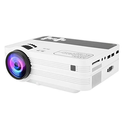 ASHATA Mini Beamer, draagbare LCD-videoprojector, multimedia beamer, mini thuisbioscoop-projector, 1920 x 1080 HD videobeamer, wifi, Bluetooth 4.0, mediaspeler, beamer voor Android 6.0, EU.