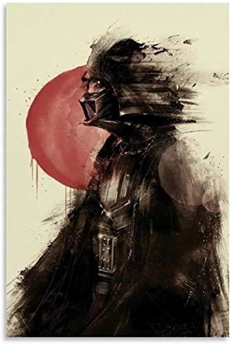HuGuan Lienzo Y Arte De Pared PóSter 60x90cm Star Wars The Mandalorian Cards Decoración de Sala de Estar Pintura Pared Y Estampados Cuadros Sin Marco