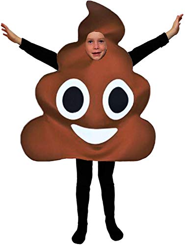 Favorite Emoticon Emoji Costumes for Boys and Girls (Child, Brown, Size Child