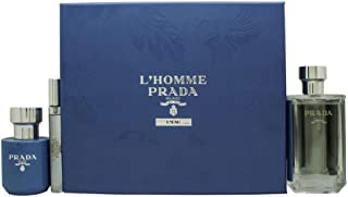 PRADA Milano L'Homme L'Eau Set For Men - Edt 100 ml + 10 ml Roll On + 100 ml Shower Cream