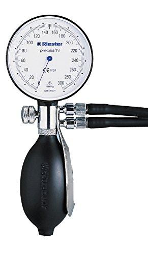 Riester 1363-106 precisa N Blutdruckmessgerät, Aluminium, Hakenmanschette, Erwachsene, Doppelschlauch