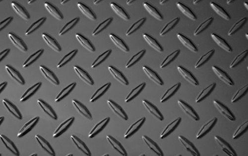 "Black Diamond Plate Thermoplastic Sheet 24"" x 48"" x .030"