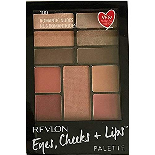 Revlon Eyes Cheeks & Lips Palette,100 Romantic Nudes, (Pack of 2)