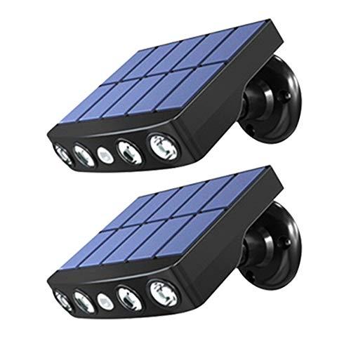 ZENING Lámpara de la calle de la luz de la pared de las luces solares al aire libre de la detección de movimiento al aire libre de la luz solar de jardín de la lámpara impermeable
