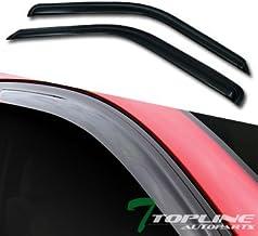 Topline Autopart Smoke Window Visors Deflector Vent Shade Guard 2 Pieces For 88-00 Chevy/GMC C10 C/K Truck SUV