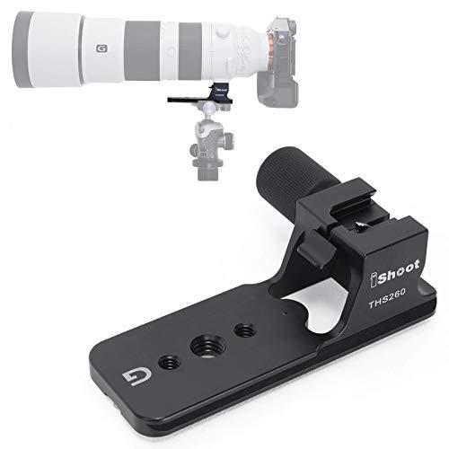 iShoot - Anillo Adaptador de Soporte de trípode para Sony FE 200-600 mm f/5.6-6.3 G OSS Lens SEL200600G, Placa de liberación rápida integrada de 105 mm para trípode de Cabeza de Bola de Arca-Swiss