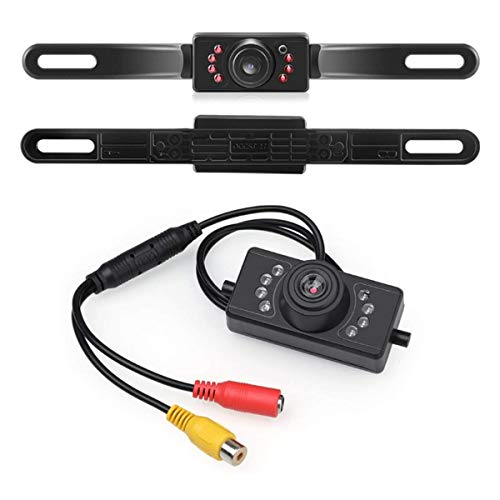 DUTTY Car Rear View Camera Waterproof HD Color Wide with 7 Infrared Night Vision LED Lights