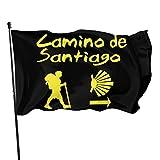 ewretery Bandera de jardín de 3 x 5 pies para decoración del hogar Camino De Santiago Compostela Bandera de jardín interior al aire libre