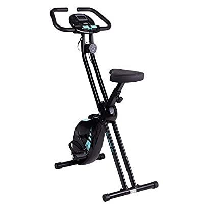 Beliwin Exercise Bike Home 8 Level Magnetic Resistance with Adjustable Seat Height and LCD Monitor for Home Office by Beliwin