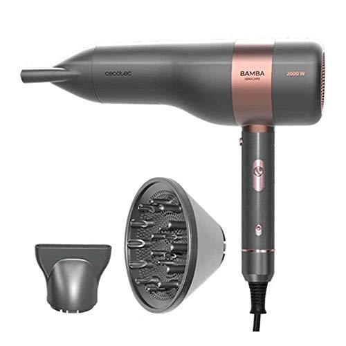 Cecotec 04225 Secador de pelo Bamba IoniCare 6000 RockStar Vision, motor Digital Brushless, 2000 W, 5 ajustes de temperatura, color gris