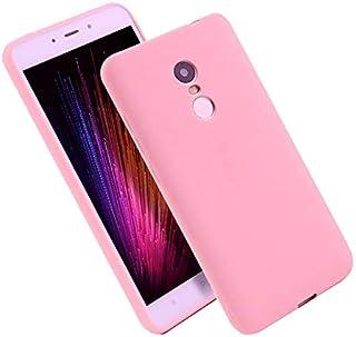 Back ultra thin cover case TPU matte for Xiaomi Redmi 5 Plus - Pink