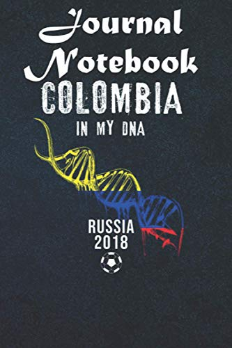 Composition Notebook: Colombia DNA Colombian Soccer Team Football 2018 6 in x 9 in x 100 Lined and Blank Pages for Notes, To Do Lists, Notepad, Journal Gift for your beloveds