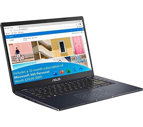 ASUS E410MA 14' Laptop, Intel Pentium Silver N5030 (3.1GHz), 4GB, 128GB, Windows 10 S (64-bit), Blue