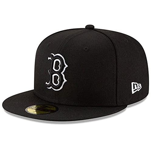 New Era MLB Boston Red Sox Basic 59Fifty - Gorro ajustado para hombre, color negro