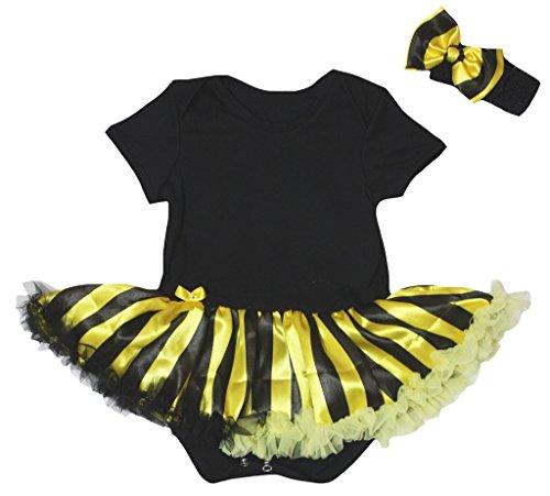 Petitebelle - Body - Bébé (fille) 0 à 24 mois noir noir, jaune - noir - L
