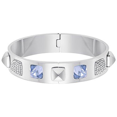 Swarovski Damen-Armreif Glance Edelstahl rhodiniert Kristall weiß - 5272075