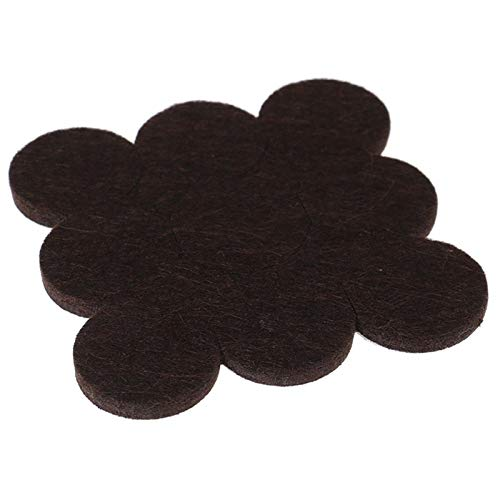 Proteja sus pisos de madera 90pcs / 10 láminas de fieltro patas de la silla de la pierna alfombras de piso protectores for muebles Tabla Cubrepiernas redondas Pads fondo antideslizante 2.7cm para pies