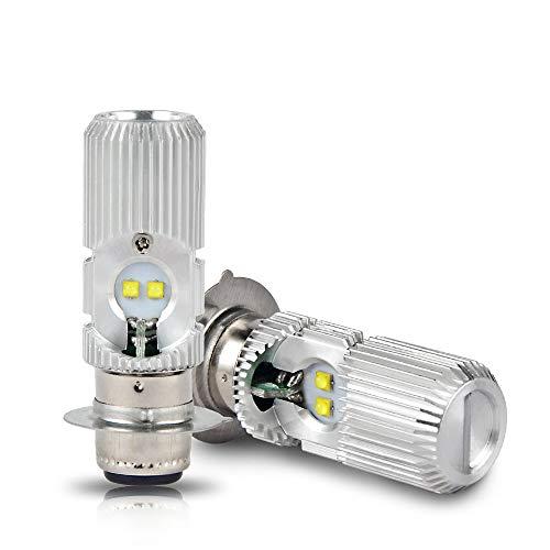 H2Racing Moto P15D H6M LED Bombillas Faros Delanteros Hi/Low Beam,2000LM/Pair 6000K Blanco Frío led Lámpara Reemplace la bombilla halógena