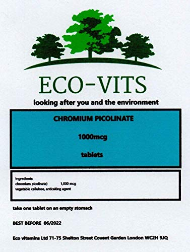 Chromium PICOLINATE. (1000MCG) 240 TABS