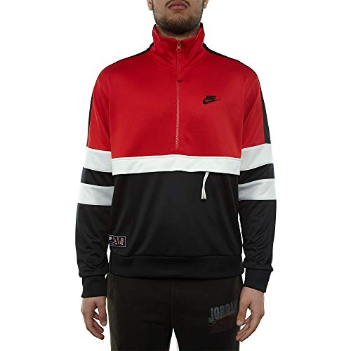 Nike M NSW Air Jkt PK Giacca Sportiva, Uomo, University Red/Black/Sail/Black, M