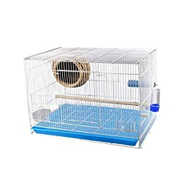 DHTOMC Xiaokeai Birdcages Creative Metal Birdcage Parrot Pearl Bird Cage Creative Large Pet Cage Travel Bird Cage (Size : L) Xping