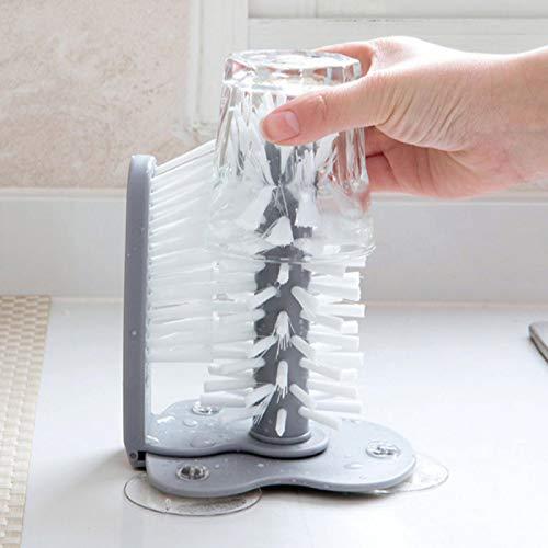 FECAMOS Cup Cleaner Glass Cup Brush Multifunción para biberones