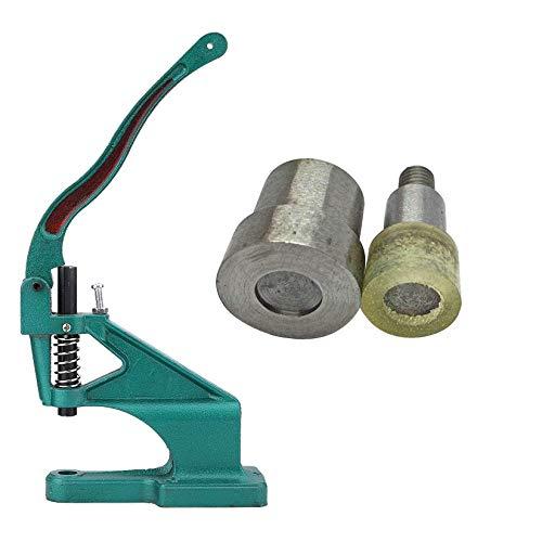 WedDecor Universal Mano Verde Máquina Prensa con Doble Tapa Tubular Remache Troqueles Set para Leathercraft, Reparación Ropa, Bricolaje Decoración - 12mm