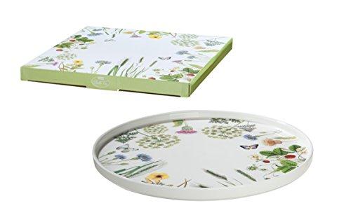 GILDE Tortenplatte Servier Teller Wilde Blumewiese Wild Flower Shabby Landhaus Porzellan