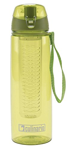 Culinario Trinkflasche Flavour aus Kunststoff, 700 ml, in grün, mit Filtereinsatz und Trageschlaufe, schlagfest, geschmacksneutral