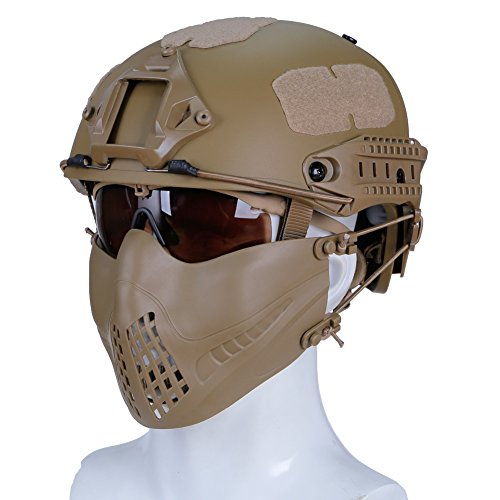 haoYK Casco de Deporte Multiusos Protector táctico Casco Airsoft Paintball Tipo Casco...