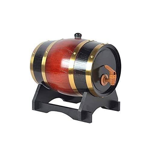 Recipiente de agua con grifo, recipiente de almacenamiento de vino doméstico Barril de envejecimiento de roble 1.5L / 3L / 5L / 10L / 15L / 20L / 25L / 30L / 50L Dispensador de whisky con soporte de r