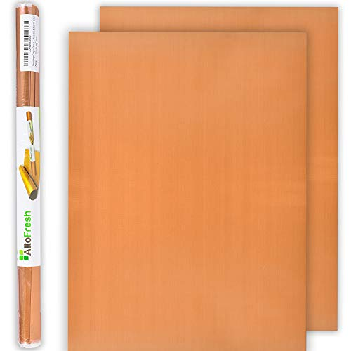 Extra Large Copper Grill Mats & Bake Mats, 2 Pieces – 17x24 inches Reusable Grill Sheets for Gas, Charcoal, Electric Grill - Non-Stick, Durable, & Washable for BBQ, Grilling & Baking – Great Gift Idea