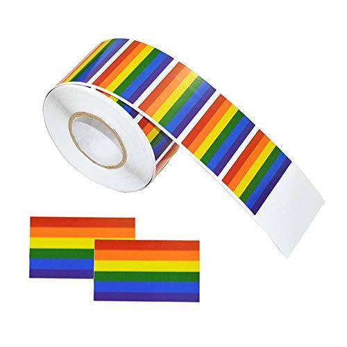 Gay Pride Aufkleber,500 Stk.Regenbogenfahne Aufkleber LGBT Awareness Events,Regenbogen Temporäre Tattoo Aufkleber Reflektierend für Gay Pride Lesben Bisexuelle Transgender Unterstützung