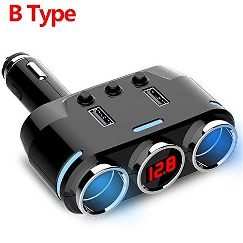 N\A Auto Leichter Telefon MP3 DVR Zubehör LED USB-Ladegerät 3.1A 100W Erkennung 12V-24V Auto-Zigarettenanzünder-Teiler-Stecker qualitätssicherung (Color Name : B Type)