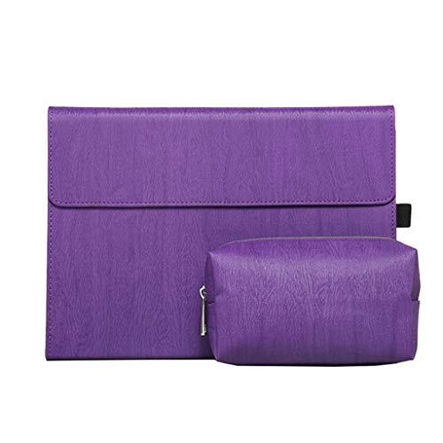 Custodia pieghevole per tablet protettiva per tablet Microsoft Surface Pro4 / 6 Go (Color : Purple, Edition : Pro6 12.3inches)