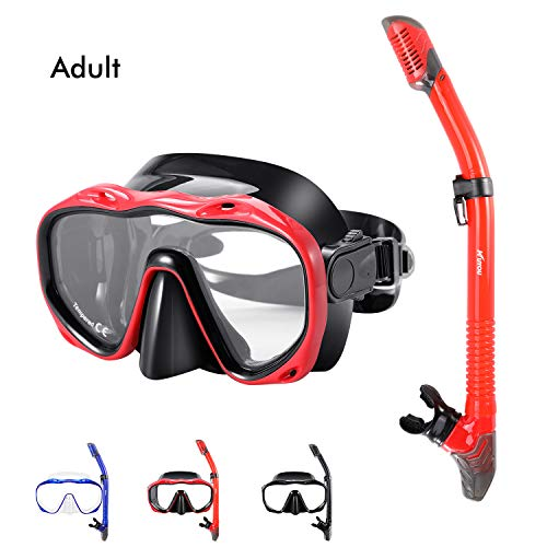 Kuyou Snorkel Set Adults,Dry Snorkeling Set Men Women Anti-Fog Snorkel Mask...