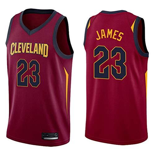 XH-CHEN Los Hombres de Camiseta de la NBA Cavs # 23 Lebron James Bordadas Retro Malla de Baloncesto Ropa de Entrenamiento, Unisex Camiseta sin Mangas del Chaleco,B,S(170CM/50~65Kg)