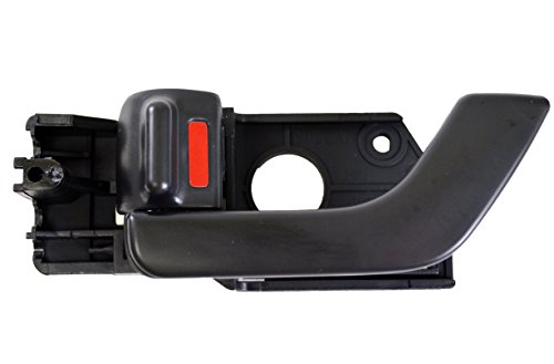 PT Auto Warehouse HY-2508A-FL - Inside Interior Inner Door Handle, Black - Driver Side Front
