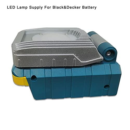Herramienta eléctrica plegada 18V 10W Fuente de batería de Iones de Litio Lámpara de luz de Trabajo LED Gris Azul para Mejor