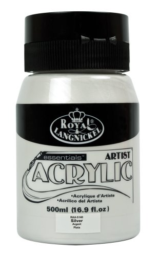Royal & Langnickel RAA-5140 - Pintura acrílica (500 ml), color plateado
