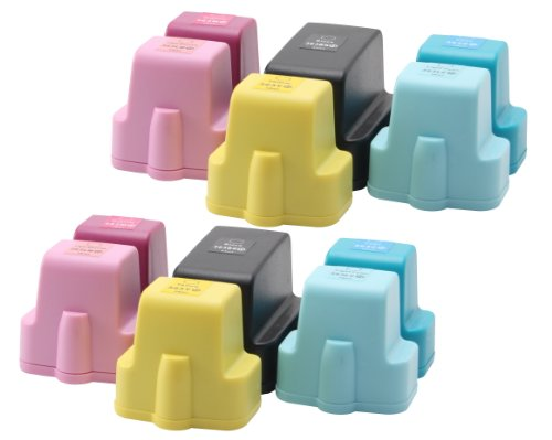 12x Compatible tinta cartuchos XL reemplazo for HP-363 (2x black / 2x cyan / 2x magenta / 2x yellow / 2x light cyan / 2x light magenta)